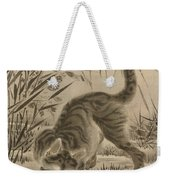 Cat Catching A Frog Weekender Tote Bag
