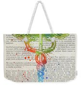 Certified Personal Trainer Gift Idea With Caduceus Illustration  Weekender Tote Bag