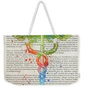 Certified Registered Nurse Anesthetist Gift Idea With Caduceus I Weekender Tote Bag