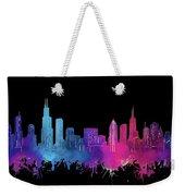 Chicago Skyline Watercolor 3 Weekender Tote Bag