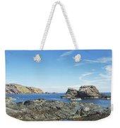 cliffs and coast at St. Abbs, Berwickshire Weekender Tote Bag