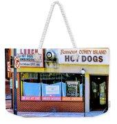 Coney Island Lunch Weekender Tote Bag