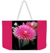 Hot Pink Dahlia  Weekender Tote Bag