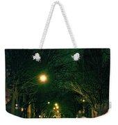 Dark Chicago City Street At Night Weekender Tote Bag