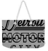 Detroit Motor City Weekender Tote Bag