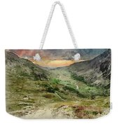 Digital Watercolor Painting Of Beautiful Dramatic Landscape Imag Weekender Tote Bag