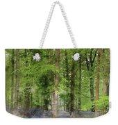 Digital Watercolor Painting Of Stunning Bluebell Forest Landscap Weekender Tote Bag