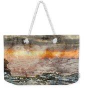 Digital Watercolor Painting Of Stunning Winter Panoramic Landsca Weekender Tote Bag