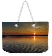 Dog Lake Sunset Weekender Tote Bag