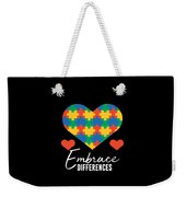 1 Embrace Differences Weekender Tote Bag