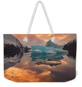 Sunset On Iceberg Weekender Tote Bag