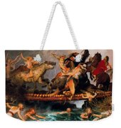 Fighting On A Bridge  Weekender Tote Bag