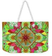 Flower Garden Mandala Weekender Tote Bag