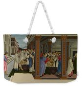 Four Scenes From The Early Life Of Saint Zenobius  Weekender Tote Bag
