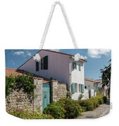 french houses in the streets of Saint Martin de re Weekender Tote Bag
