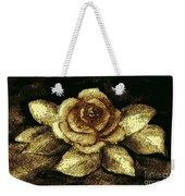 Antique Gold Rose Weekender Tote Bag