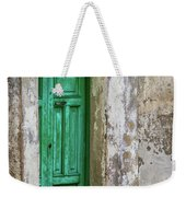 Green Door 2 Weekender Tote Bag by Robin Zygelman