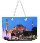 Hagia Sophia At Night Istanbul Turkey  Weekender Tote Bag