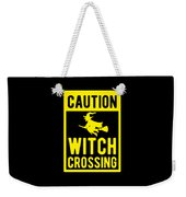 Halloween Shirt Caution Witch Crossing Gift Tee Weekender Tote Bag