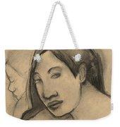 Heads Of Tahitian Women, Frontal And Profile Views Weekender Tote Bag