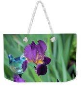 Iris In The Cottage Garden Weekender Tote Bag