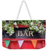 Irish Bar In Dublin Weekender Tote Bag