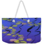 Lilies On Blue Water Weekender Tote Bag