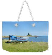 Lindisfarne Castle, Bay And Boat Weekender Tote Bag