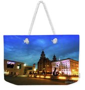 Liverpool's Historic Waterfront Weekender Tote Bag