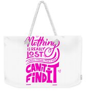 Lost Until Mom Cant Find It Funny Humor Mothers Day Weekender Tote Bag