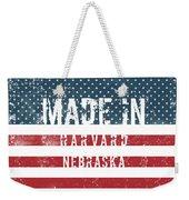 Made In Harvard, Nebraska Weekender Tote Bag