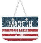 Made In Lebanon, Illinois Weekender Tote Bag