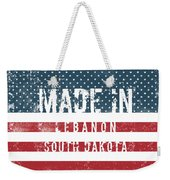 Made In Lebanon, South Dakota Weekender Tote Bag