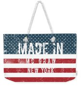 Made In Mc Graw, New York Weekender Tote Bag