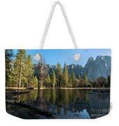 Merced River Reflection, Yosemite National Park Weekender Tote Bag