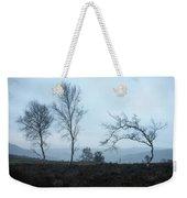 Moody Winter Landscape Image Of Skeletal Trees In Peak District  Weekender Tote Bag