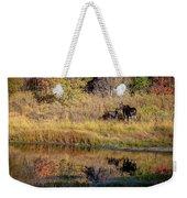 Moose At Green Pond Weekender Tote Bag