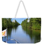 Narrow Cut On The Trent Severn Waterway Weekender Tote Bag