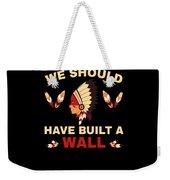 Native American Built Wall Trump Apparel Weekender Tote Bag