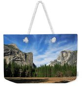 North Dome And Half Dome, Yosemite National Park Weekender Tote Bag