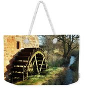 old mill wheel and stream at Preston Mill, East Linton Weekender Tote Bag