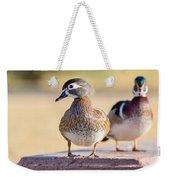Pair Of Wood Ducks Weekender Tote Bag