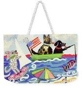 Patriotic Puppies Weekender Tote Bag