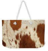 Pattern Of A Longhorn Bull Cowhide. Weekender Tote Bag by Rob D Imagery