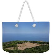 Photography View Over The Mountain Village Erice In Sicily Weekender Tote Bag