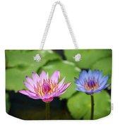 Pink Lotus Water Flower Weekender Tote Bag