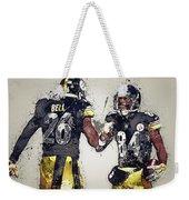 Pittsburgh Steelers.le'veon Bell And Antonio Brown Weekender Tote Bag