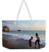 Playing Barefooted At Aphrodite's Birthplace Weekender Tote Bag