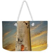 Point Of Ayr Lighthouse Sunset Weekender Tote Bag