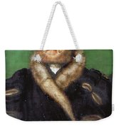Portrait Of A Bearded Man With A Fur Coat  Weekender Tote Bag